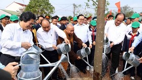 Tree planting festival launched in Bac Hong commune, Hanoi's Dong Anh district (Source: VNA)