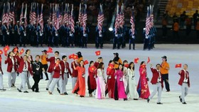 The Vietnamese sport delegation at the opening ceremony of the 29th SEA Games in Malaysia in 2017 (Photo: 24h.com.vn)