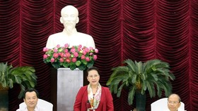 National Assembly Chairwoman Nguyen Thi Kim Ngan speaks at the event (Source: VNA)
