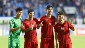 Players of Vietnam's U23 team for the 2020 AFC U23 Championship qualification (Photo: VNA)