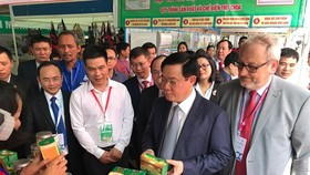 The 2019 trade promotion fair for cooperatives is opened at opened at Hoa Lu Sports Center