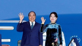 Prime Minister Nguyen Xuan Phuc and his spouse (Photo: VNA)