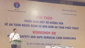 PGS.TS Lương Ngọc Khuê, Cục trưởng Cục quản lý Khám chữa bệnh (Bộ Y tế) phát biểu tại hội nghị