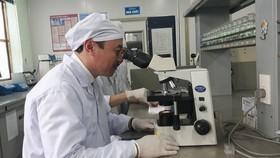 TS. Hoàng Minh Châu tại phòng nghiên cứu