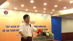 PGS.TS Lương Ngọc Khuê – Cục trưởng Cục Quản lý khám chữa bệnh phát biểu tại hội thảo