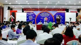 Các đơn vị, doanh nghiệp tham dự hội thảo khởi nghiệp
