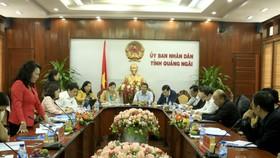 Thứ trưởng Nguyễn Thị Nghĩa làm việc với tỉnh Quảng Ngãi