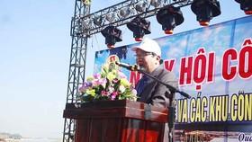 Ông Lê Hàn Phong phát biểu. Ảnh:NGUYỄN TRANG