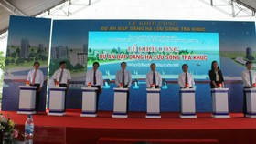 Quảng Ngãi: Khởi công Dự án Đập dâng hạ lưu sông Trà Khúc