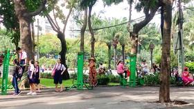 Tập thể dục tại Công viên 23-9, quận 1, TPHCM