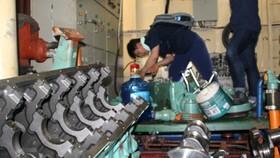 Máy tàu vỏ thép bị hư hỏng tại Bình Định do Công ty Nam Triệu đóng