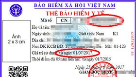 Thẻ BHYT mẫu mới không có hạn sử dụng?