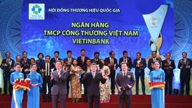VietinBank lần thứ 5 liên tiếp đạt giải Thương hiệu Quốc gia