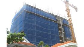 Công trình khu phức hợp Cap Saint Jacques của DIC Corp không có giấy phép xây dựng. Ảnh: NÔNG NGÂN
