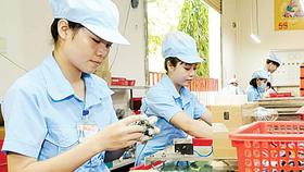 Lắp ráp linh kiện điện tử tại một doanh nghiệp trong nước