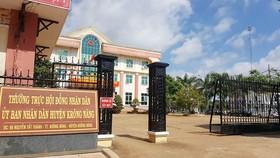 Trụ sở UBND huyện Krông Năng, nơi có nhiều cán bộ sai phạm trong việc làm lộ đề thi công chức cấp xã