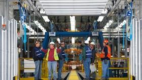 圖為美國密歇根州奧利安整車組裝中心。(示意圖源:互聯網)
