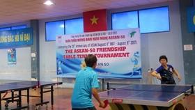 東盟-50乒乓球友誼賽比賽一瞥。(圖源:互聯網)