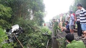 圖為一起涉及鐵路事故的現場。(示意圖源:互聯網)