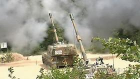 圖為韓軍K-9自行火炮。 (圖片來源:韓聯社)