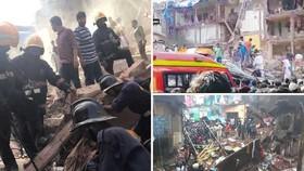 印度孟買南部一棟三層樓房8月31日發生垮塌,造成數十人傷亡。(圖源:互聯網)