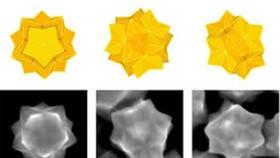 對稱的納米金星。(圖源:J. Am. Chem. Soc.)