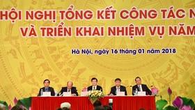 圖為越南煤炭礦產工業集團(KTV)2017年工作總結和2018年任務開展會議現場一隅。(圖源:KTV)
