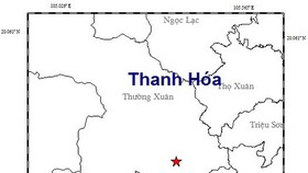 昨(13)日3時8分左右,當地已發生一場3.0 級地震,隨後5分鐘又出現餘震。星號表示震中位置。(圖源:地球物理院)