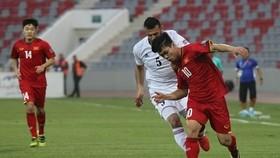 越南與約旦比賽一瞥。