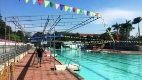 漏電事故的游泳池。(圖源:N.A)