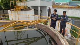 在古芝西北工業區某廠房的集中廢水處理池。