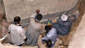 考古人員在現場工作。(圖源:互聯網)