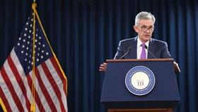 9月26日,在美國首都華盛頓,美國聯邦儲備委員會主席鮑威爾在新聞發佈會上講話。(圖源:新華網)
