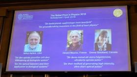2018年諾貝爾物理學獎授予來自美國、法國、加拿大的三位科學家。(圖源:路透社)