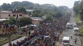 難民向美國南部邊境進發。(圖源:AP)
