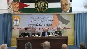 巴勒斯坦中央委員會29日晚在拉姆安拉舉行為期兩天的會議。(圖源:半島電視台)