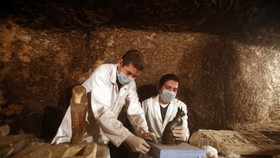 考古學家在挖掘現場工作。(圖源:互聯網)