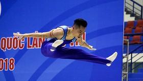 黎清松(本市)在單槓賽項的表現,奪得金牌。(圖源:黎海)