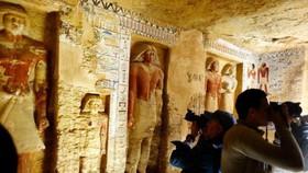 當地時間12月15日,埃及公開了位於開羅的新挖掘大祭司Wahteye的墳墓,他曾在Neferirkare國王統治期間(公元前2500年至公元前2300年)服務。(圖源:互聯網)
