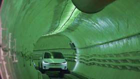 馬斯克設想首條地下隧道亮相。(圖源:互聯網)
