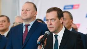 俄羅斯總理梅德韋傑夫。(圖源:新華社)