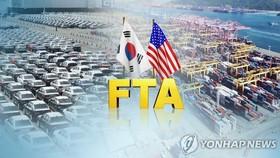 據韓國產業通商資源部去年12月31日消息,韓美自由貿易協定(FTA)修訂案於1月1日正式生效。(圖源:韓聯社)