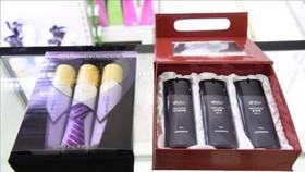 """圖為平壤第一百貨商店正在銷售的""""春香氣""""產品。(圖源:韓聯社)"""
