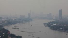 曼谷這幾天霧霾嚴重,能見度大幅下降。(圖源:互聯網)