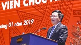 外交部長范平明在會上發表指導意見。(圖源:外交部)