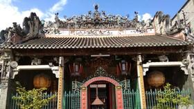 在堤岸區帶有中華色彩的廟宇。