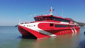 頭頓-崑崙島Express36高速雙體客船正式投入運營。(圖源:互聯網)