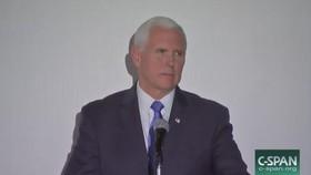 美國副總統彭斯當地時間25日表示,美國政府將對委內瑞拉施加更多制裁,進一步向委政府施壓。(圖源:視頻截圖)