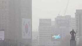 """首爾地區""""霧霾繚繞""""。(圖源:互聯網)"""