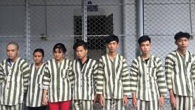 7名搶劫的大學生。